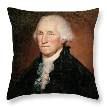 George Washington  Throw Pillow by Rembrandt Peale
