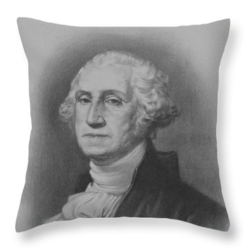 George Washington Throw Pillow by War Is Hell Store