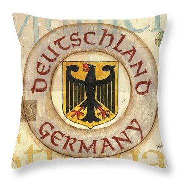 German Coat Of Arms Throw Pillow by Debbie DeWitt