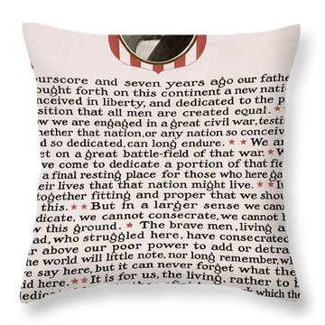 Gettysburg Address Throw Pillow by International  Images