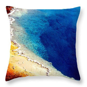 Geyser Basin Throw Pillow by Nancy Mueller