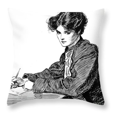 Gibson: Drawings, C1900 Throw Pillow by Granger