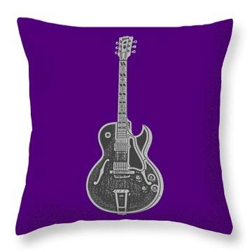 Gibson Es-175 Electric Guitar Tee Throw Pillow by Edward Fielding