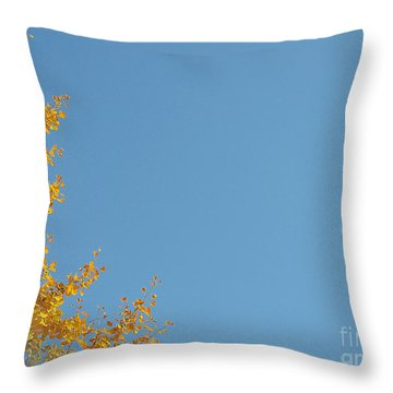 Ginkgo Fantasy In Blue Throw Pillow by Eena Bo