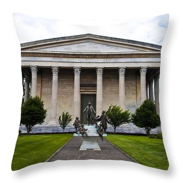 Girard College Philadelphia Throw Pillow by Bill Cannon