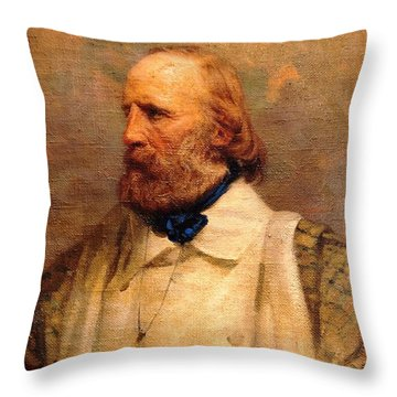 Giuseppe Garibaldi Throw Pillow by Pg Reproductions