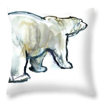 Glacier Mint Throw Pillow by Mark Adlington