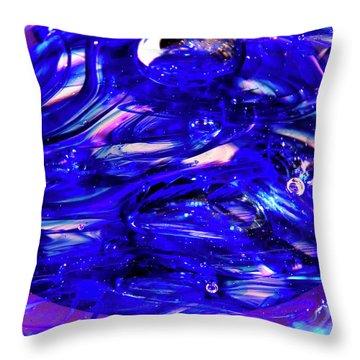 Glass Macro Xvii Throw Pillow by David Patterson