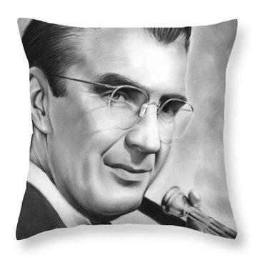 Glenn Miller Throw Pillow by Greg Joens