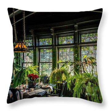 Glensheen Mansion Breakfast Room Throw Pillow by Paul Freidlund