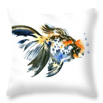 Goldfish Throw Pillow by Suren Nersisyan