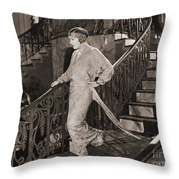 Gloria Swanson (1897-1983) Throw Pillow by Granger
