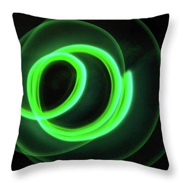 Glow Stick Motion Throw Pillow by Denise Keegan Frawley