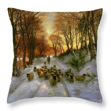 Glowed With Tints Of Evening Hours Throw Pillow by Joseph Farquharson
