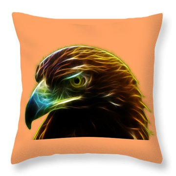 Glowing Gold Throw Pillow by Shane Bechler