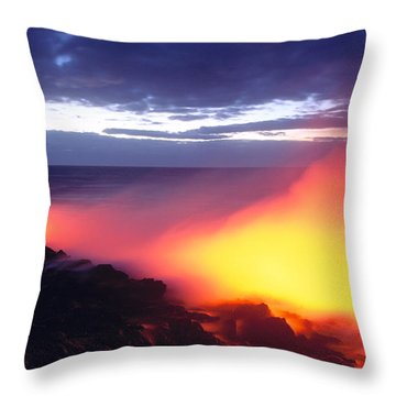 Glowing Lava Flow Throw Pillow by William Waterfall - Printscapes