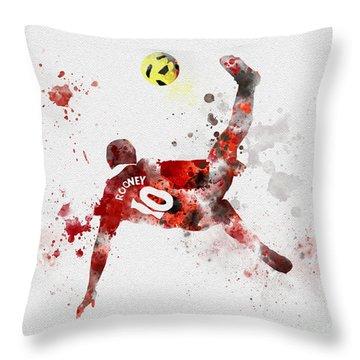 Goal Of The Season Throw Pillow by Rebecca Jenkins