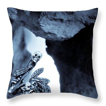 Goblin Shaman Throw Pillow by Marc Garrido