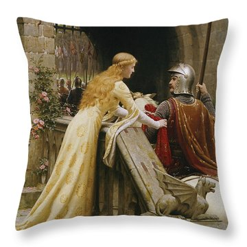 God Speed Throw Pillow by Edmund Blair Leighton