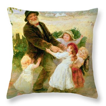 Going To The Fair Throw Pillow by Frederick Morgan