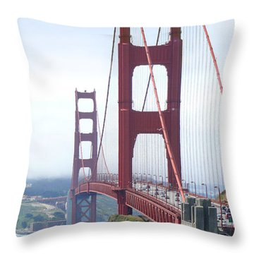Golden Gate Bridge Throw Pillow by Mike McGlothlen