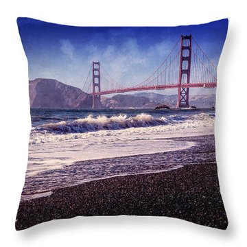 Golden Gate Throw Pillow by Everet Regal
