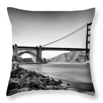 Golden Gate From Fort Point Throw Pillow by Tanya Harrison