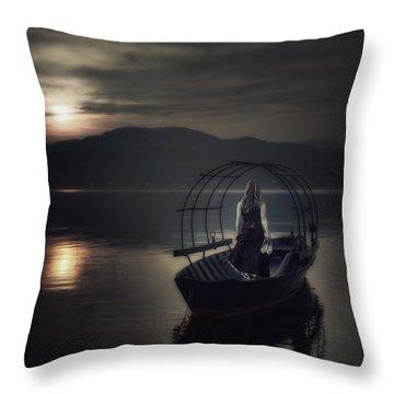 Gone Fishing Throw Pillow by Joana Kruse