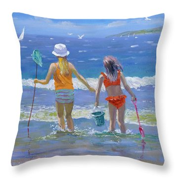 Gone Fishing  Throw Pillow by William Ireland