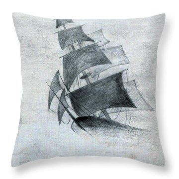 Gone With The Wind Throw Pillow by Farah Faizal