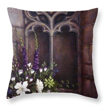 Gothic Wedding Bouquet Throw Pillow by Sean Conlon