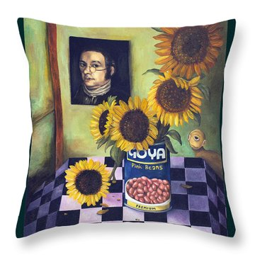 Goyas With Lettering Throw Pillow by Leah Saulnier The Painting Maniac