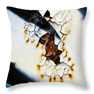 Graffiti Texture II Throw Pillow by Ray Laskowitz - Printscapes