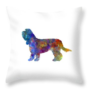 Grand Basset Griffon Vendeen In Watercolor Throw Pillow by Pablo Romero