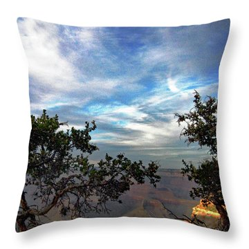 Grand Canyon No. 4 Throw Pillow by Sandy Taylor