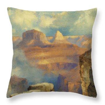 Grand Canyon Throw Pillow by Thomas Moran