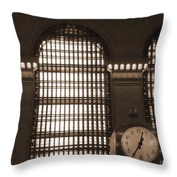 Grand Central Station Throw Pillow by Henri Irizarri