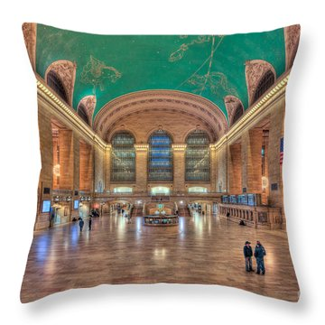 Grand Central Terminal V Throw Pillow by Clarence Holmes