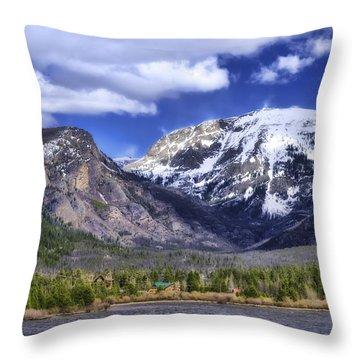 Grand Lake Co Throw Pillow by Joan Carroll