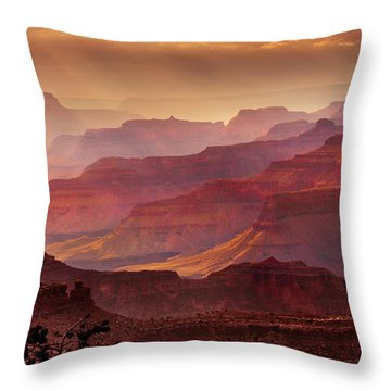Grandeur Throw Pillow by Mikes Nature