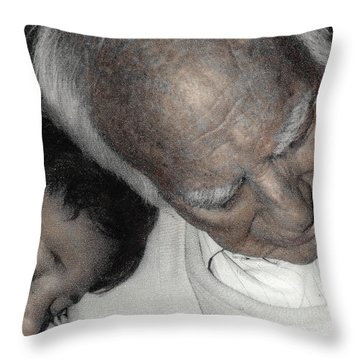 Grampas Shoulder Throw Pillow by Wayne King