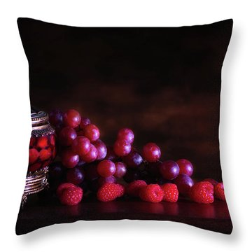 Grape Raspberry Throw Pillow by Tom Mc Nemar
