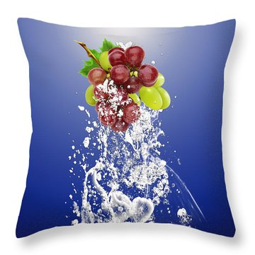 Grape Splash Throw Pillow by Marvin Blaine