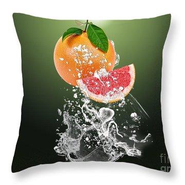Grapefruit Splash Throw Pillow by Marvin Blaine