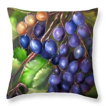 Grapevine Throw Pillow by Carol Sweetwood
