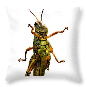 Grasshopper II Throw Pillow by Gary Adkins