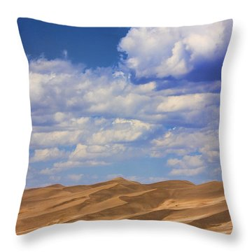 Great Colorado Sand Dunes Mixed View Throw Pillow by James BO  Insogna