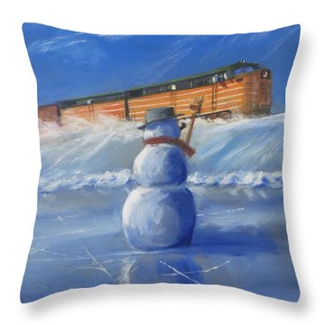 Greetings Throw Pillow by Christopher Jenkins