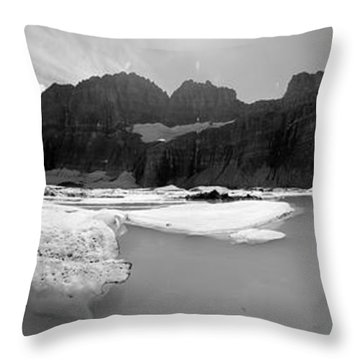 Grinnell Glacier Panorama Throw Pillow by Sebastian Musial