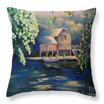 Grist Mill 2 Throw Pillow by Marlene Book